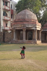 Twirling in front of an ancient madrasa
